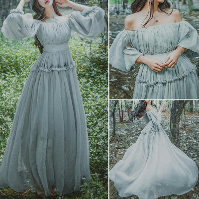 752e5f0ce4e55 Womens Vintage Mori Elegant Fairy Princess Japan Lolita Girls Long Gown  Dress