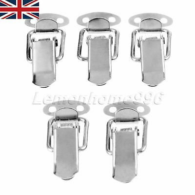 5x Wood Chest Box Latch Spring Loaded Toggle Case Trunk Catches & Screw UK STOCK