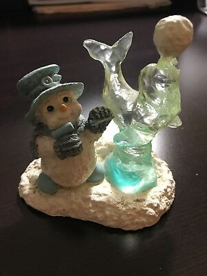 """Dreamsicles Northern Lights 1999 """"Ice Sculpture"""" Snowman with Ice Seal Orig Box"""