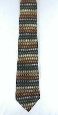 Men's MW Collection Geometric Multi-Color Silk Tie Necktie X- Long Made in USA