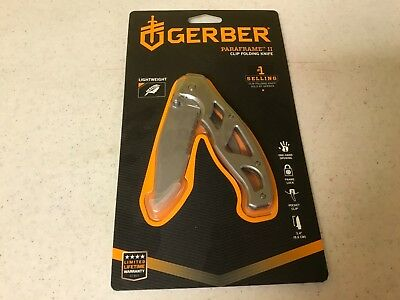 Gerber Paraframe II Clip Folding Knife Stainless Steel Lightweight In Package