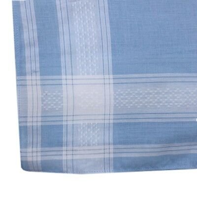 Men's 100% Pure Cotton Handkerchiefs 38CM X 38CM Birthday Gift Bulk Deal