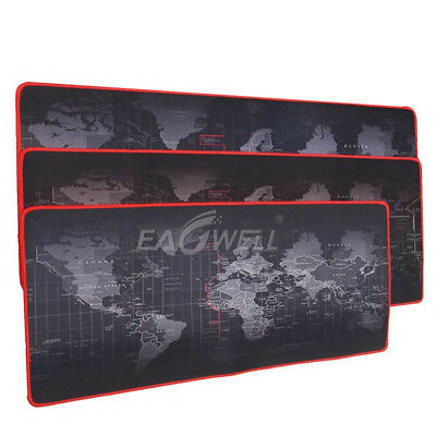 Office World Map Large Cloth Extended Rubber Gaming Mouse Desk Pad Mat Non-Slip