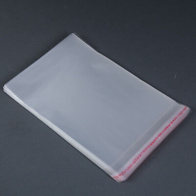 100pcs Resealable Poly Bag Transparent Opp Bag Plastic Bags Self Adhesive Seal