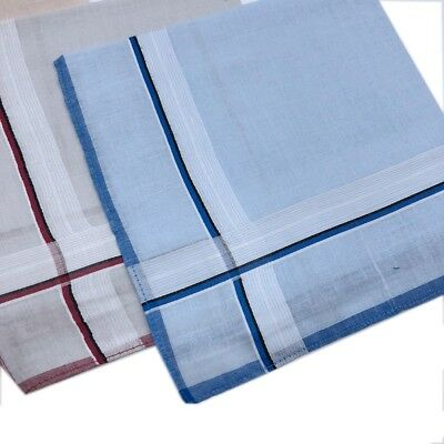 Men's 100% Pure Cotton Handkerchiefs 38CM X 38CM Birthday Gift Bulk Deal  2