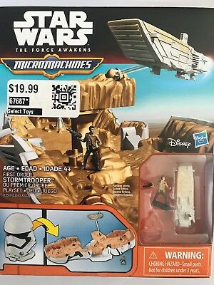 Star Wars The Force Awakens Micro machines First Order Stormtrooper Playset ASST