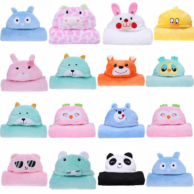 Newborn Infant Baby Soft Hooded  Blanket Bath Towel Kids Animal Pattern Bathrobe