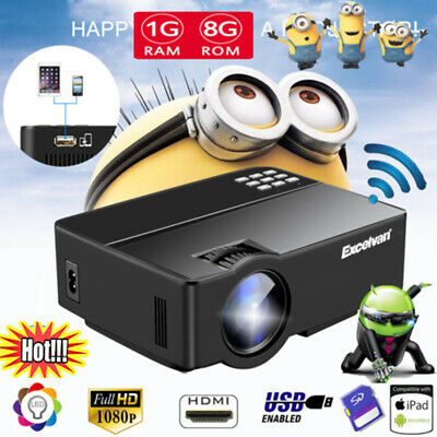 7000Lumens HD 1080P Projector Multimedia LED Home Cinema Theater HDMI Outdoor AU