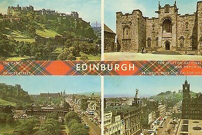 Postcard  real photograph Edinburgh multiview posted 1977