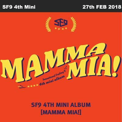 SF9 MAMMA MIA! 4th Mini Album CD+Booklet+Postcard+Photocard+Poster KPOP