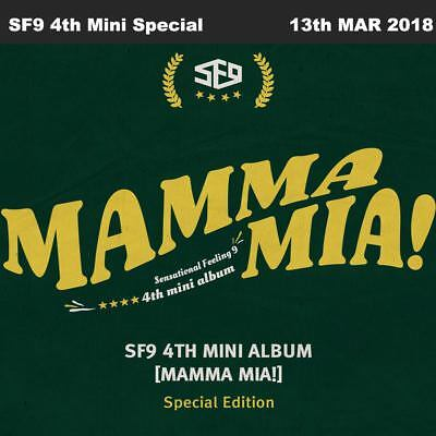 SF9 MAMMA MIA! 4th Mini Album Special Edition CD+Booklet+Poster+Etc KPOP