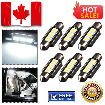 6 x 36mm 5050 3SMD Festoon LED CANBUS Error Free License Plate Dome Light Bulb