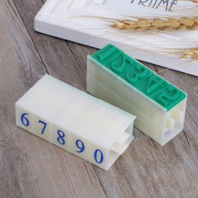 10Pcs Numbers Rubber Stamp Free Combination Plastic DIY Seal Scrapbooking DIY