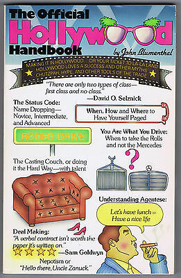 THE OFFICIAL HOLLYWOOD HANDBOOK by John Blumenthal - 1984 1st Printing - VG