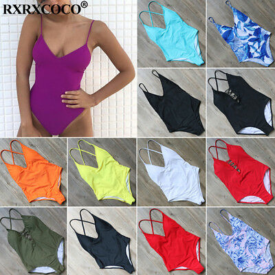 New One Piece Swimsuit Push up Monokini Swimwear Womens Push Up Bikini Beachwear