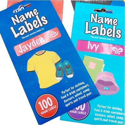 100pcs Personalised Kids Labels Stickers Tags Back to School Childcare Books Box