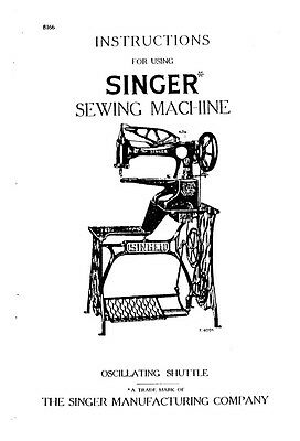 Singer 29-4 Sewing Machine Operator Manual Photocopy