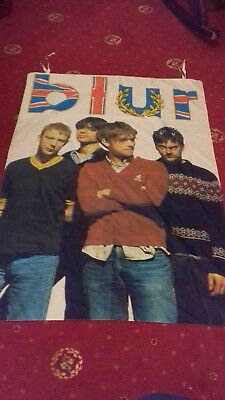 Blur old rare wall flag size 29/42 inch