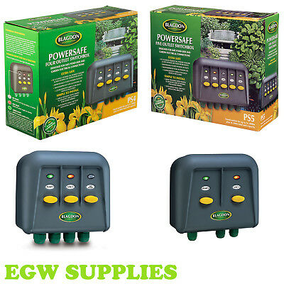 Blagdon Switch Box Powersafe Weatherproof Garden Lighting Fish Pond Cable Pump