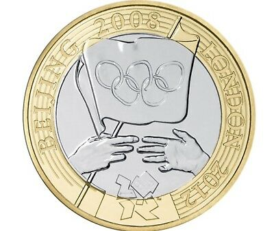RARE TWO POUND COIN - Olympic Handover Beijing to London - Good condition