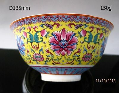 Chinese famille rose porcelain bowl of hand-painted flowers qianlong mark AS