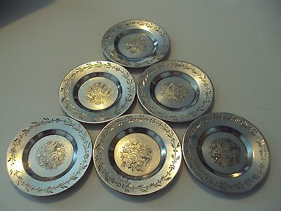 ROGERS SMITH COMPANY BUTTER PATS MINIATURE PLATES QUADRUPLE PLATE c1865