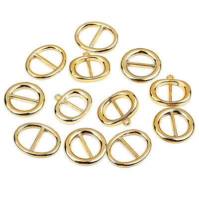 50 Pieces Gold Oval Scarf Ring - Plastic Scarves Accessory Jewelry DIY Craft
