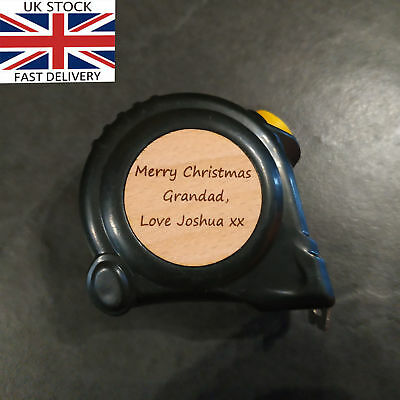 🔥 Personalised Engraved Tape Measure Grandad Father idea Gift Birthday tool Dad