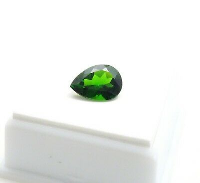 Stunning! 3.30ct Russian Chrome Diopside - Pear Shape - 12x9mm - Loose Gemstone