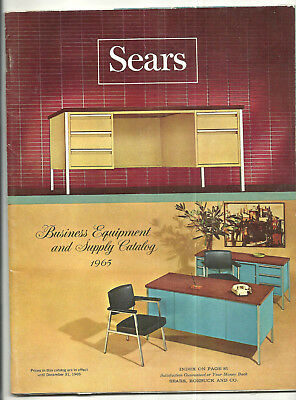 1965 Sears Roebuck Co Business Equipment & Supply Catalog