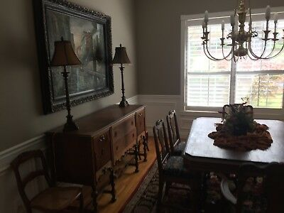1930's 9Pc Dining Room Set *price Drop* Mixed Woods Pickup Only Ar/mo/ok Border
