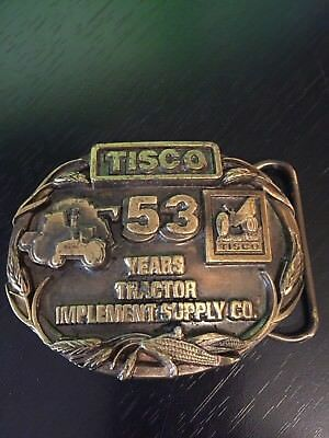 TISCO Tractor Implement Supply Co. 53 Years Belt Buckle Limited Edition 1987