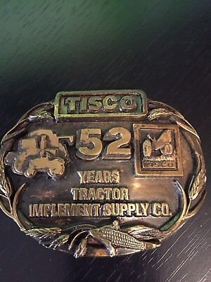 TISCO Tractor Implement Supply Co. 52 Years Belt Buckle Limited Edition 1987