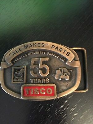 TISCO Tractor Implement Supply Co. 55 Years Belt Buckle Limited Ed 1937-1992
