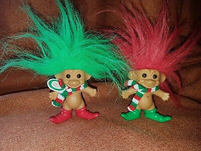 Vintage Retro Russ Troll Dolls Christmas Collectables