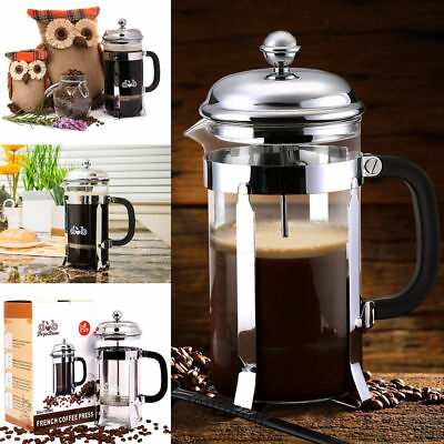 Stainless Steel French Press Coffee Maker 34oz Pot 8 Cup Tea French Coffee Press