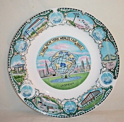Vintage New York World's Fair 1964 1965 Decorative Wall Plate Unisphere US Steel