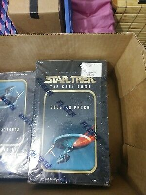 FLEER Star Trek The Card Game BOOSTER PACKS Sealed Box