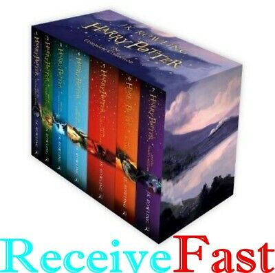 Harry Potter The Complete Collection J K Rowling 7 Books Box Boxed Gift Set