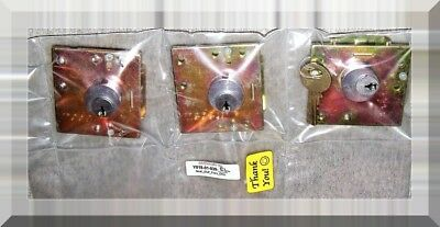 Three Pay Phone High-Security Medeco® Vault Locks (Used) - Removed From Service