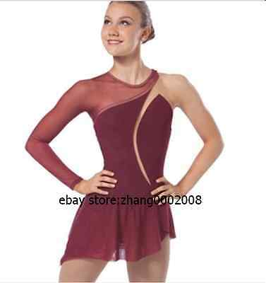 Ice skating dress.Wine Competition Figure Skating dress. Baton Twirling custom
