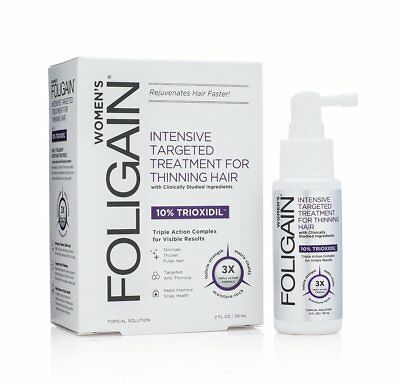FOLIGAIN Intensive Targeted Treatment For Thinning Hair For Women with 10% 2oz