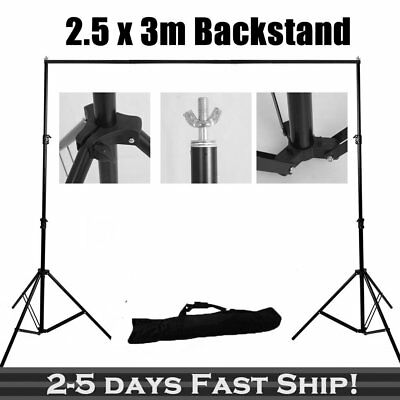 2.5*3M Photography Studio Heavy Duty Backdrop Stand Screen Background Support OZ