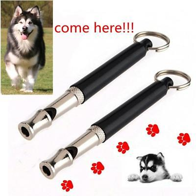 Pet Dog Training Whistle Ultra Sonic Adjustable Sound Silent Key Chain Dog Train