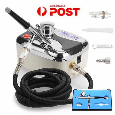 Air Brush Compressor Dual Action Spray Gun Airbrush Kit 0.3mm Needle Art Set BO