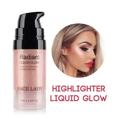 Shimmer Cream Face Highlight Illuminator Glow Bronzer Liquid Highlighter DS8D