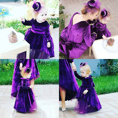 AU Stock Toddler Kid Baby Girl Bowknot Princess Ruffle Tulle Party Pageant Dress
