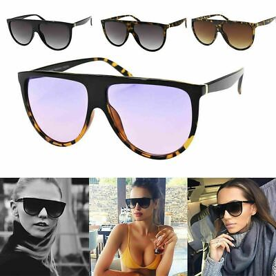 Womens Flat Top Fashion NY Oversize Sqaure Frame Sunglasses