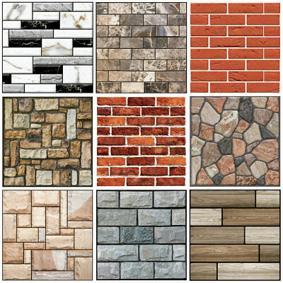 3D Brick Pattern Wallpaper Background TV Wall Sticker Home Bedroom Decor 30x30cm