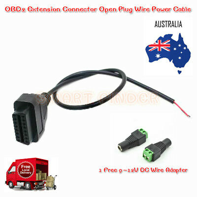 OBD2 OBD-II Extension Female Connector Open Plug Wire Power Cable